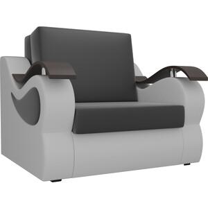 Прямой диван АртМебель Меркурий экокожа черный/белый (80)