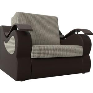 Прямой диван АртМебель Меркурий корфу 02 экокожа коричневый (60)